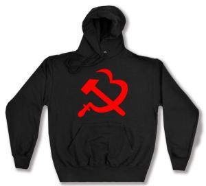 Kapuzen-Pullover: Hammer und Sichel (Herz)