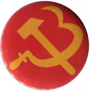 25mm Button: Hammer und Sichel (Herz)