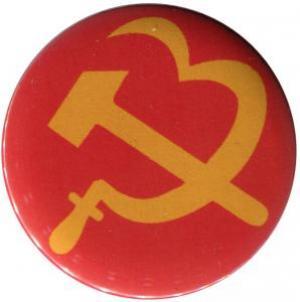 50mm Magnet-Button: Hammer und Sichel (Herz)