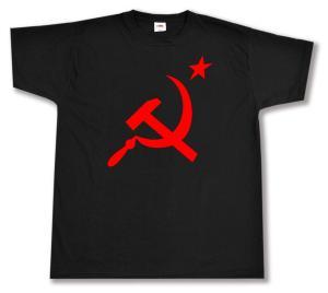 T-Shirt: Hammer und Sichel mit Stern