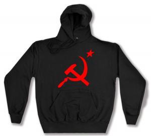 Kapuzen-Pullover: Hammer und Sichel mit Stern