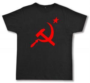 Fairtrade T-Shirt: Hammer und Sichel mit Stern