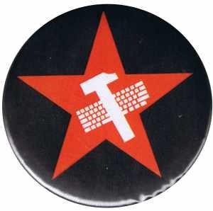 25mm Button: Hammer und Tastatur Stern