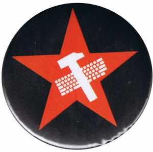 37mm Button: Hammer und Tastatur Stern