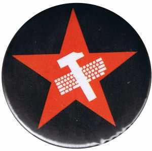 37mm Magnet-Button: Hammer und Tastatur Stern