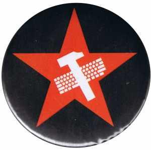 50mm Button: Hammer und Tastatur Stern