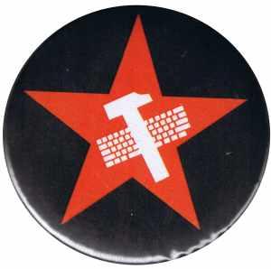 50mm Magnet-Button: Hammer und Tastatur Stern