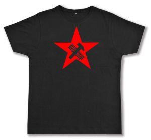 Fairtrade T-Shirt: Hammer und Tastatur Stern