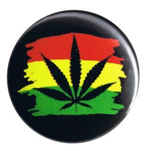 37mm Button: Hanfblatt (Jamaika)