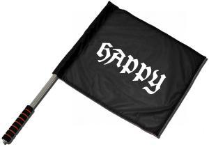 Fahne / Flagge (ca. 40x35cm): Happy APPD