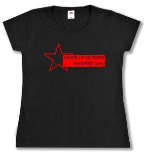 tailliertes T-Shirt: Hasta la victoria siempre (che)