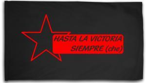 Fahne / Flagge (ca. 150x100cm): Hasta la victoria siempre (che)