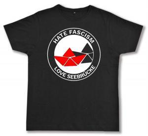 Fairtrade T-Shirt: Hate Fascism - Love Seebrücke