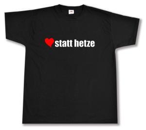 T-Shirt: herz statt hetze