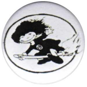 50mm Magnet-Button: Hexe im Kreis