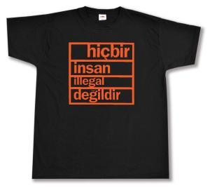 T-Shirt: hicbir insan illegal degildir