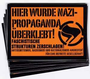 Aufkleber-Paket: Hier wurde Nazi-Propaganda überklebt!