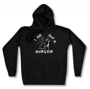 taillierter Kapuzen-Pullover: I am not a burger