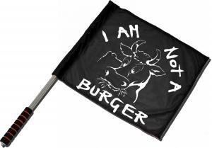 Fahne / Flagge (ca. 40x35cm): I am not a burger