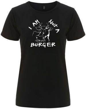 tailliertes Fairtrade T-Shirt: I am not a burger