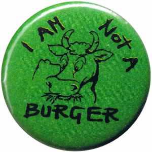 50mm Magnet-Button: I am not a burger