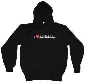 Kapuzen-Pullover: I love Animals