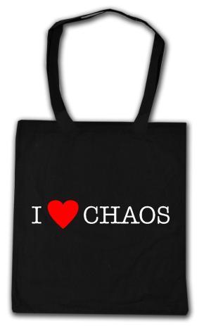 Baumwoll-Tragetasche: I love Chaos