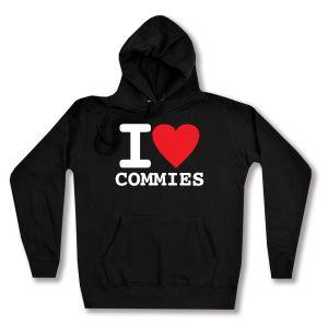 taillierter Kapuzen-Pullover: I love commies