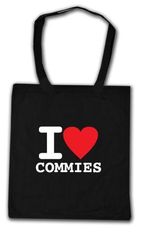 Baumwoll-Tragetasche: I love commies