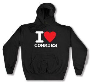 Kapuzen-Pullover: I love commies