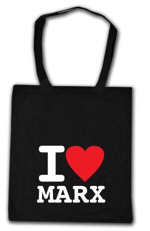 Baumwoll-Tragetasche: I love Marx