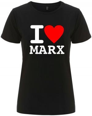 tailliertes Fairtrade T-Shirt: I love Marx