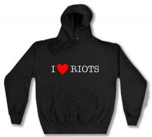 Kapuzen-Pullover: I love Riots