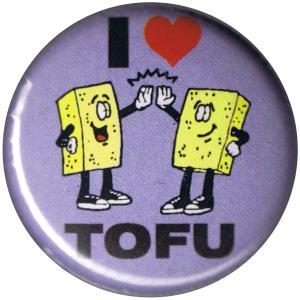25mm Button: I Love Tofu