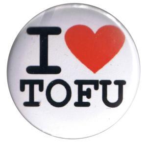 37mm Magnet-Button: I love Tofu