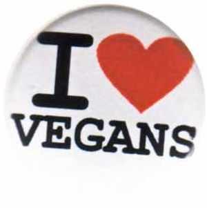 25mm Magnet-Button: I love vegans