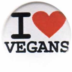 37mm Magnet-Button: I love vegans