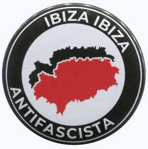25mm Magnet-Button: Ibiza Ibiza Antifascista