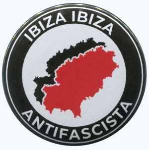50mm Magnet-Button: Ibiza Ibiza Antifascista