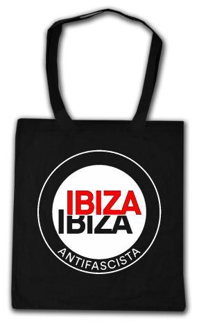 Baumwoll-Tragetasche: Ibiza Ibiza Antifascista (Schrift)