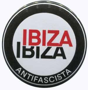 25mm Button: Ibiza Ibiza Antifascista (Schrift)
