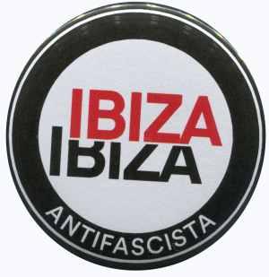 37mm Button: Ibiza Ibiza Antifascista (Schrift)