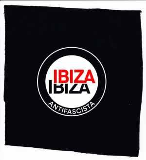 Aufnäher: Ibiza Ibiza Antifascista (Schrift)