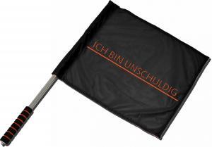 Fahne / Flagge (ca. 40x35cm): Ich bin unschuldig