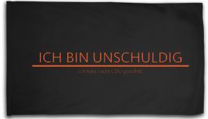 Fahne / Flagge (ca. 150x100cm): Ich bin unschuldig