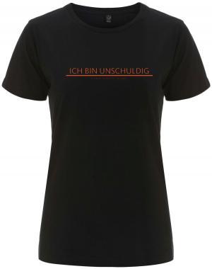 tailliertes Fairtrade T-Shirt: Ich bin unschuldig