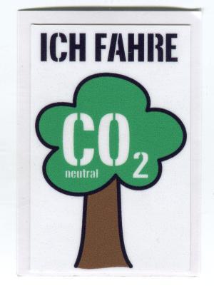 Aufkleber: Ich fahre CO2 neutral