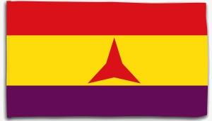 Fahne / Flagge (ca. 150x100cm): Internationale Brigaden