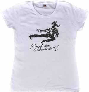 tailliertes T-Shirt: Kampf dem Patriarchat!