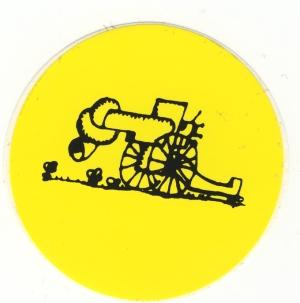 Aufkleber: Kanone mit Knoten